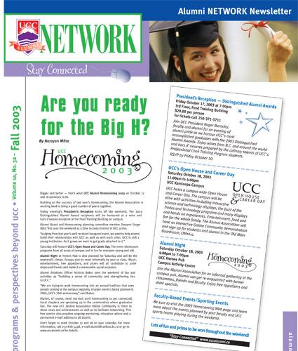 Alumni Network Magazine: Fall 2003