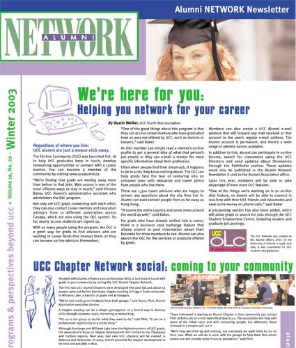 Alumni Network Magazine: Winter 2003