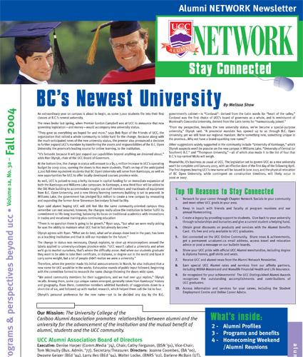 Alumni Network Magazine: Fall 2004