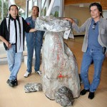 Secwepemc artists Rod and Ron Tomma and Mike Peters created the territorial marker.