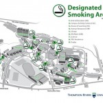 Smoking on campus is now limited to designated smoking areas only.