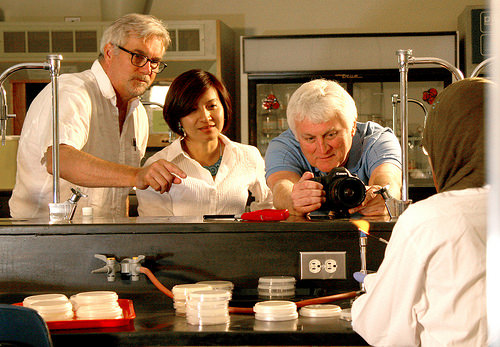 Ann Cheeptham and film crew