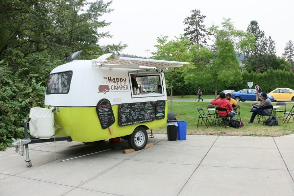 Photo of Happy Camper food truck on the TRU campus