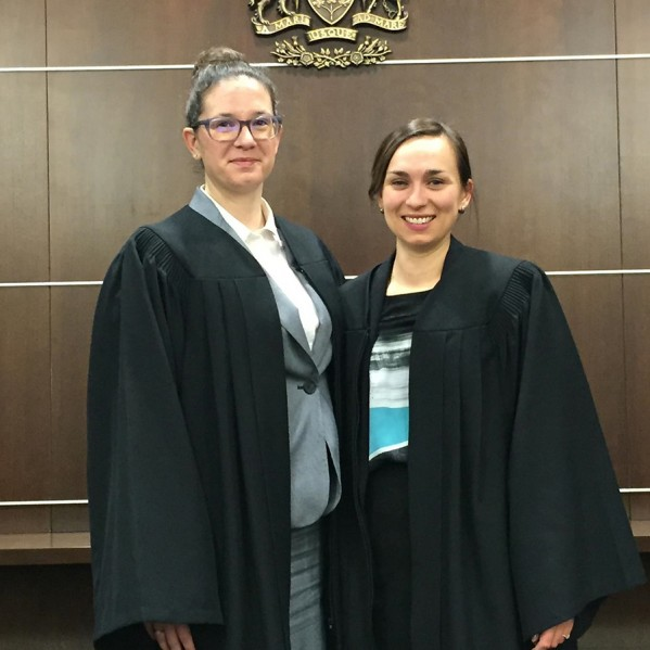 Third-year law students Kelly Melnyk and Olivia Harvey
