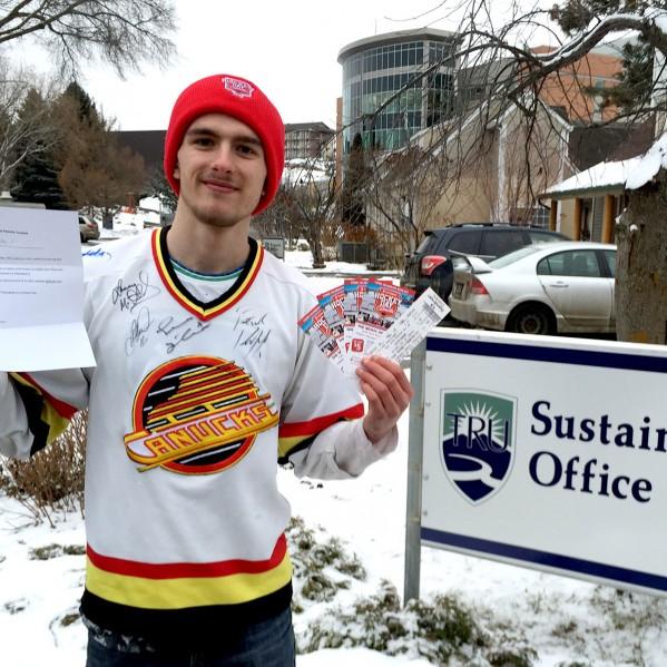 Hockey Sweater winner Lane Haller