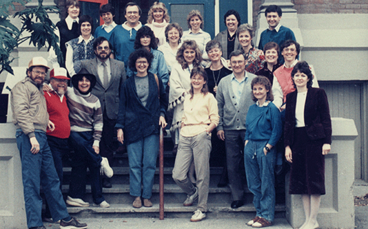 Some staff and faculty from the early days of Cariboo College