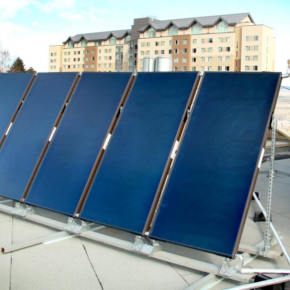 solar panels atop Campus Activity Centre