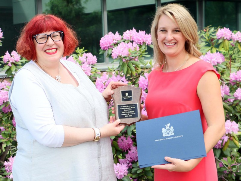 TRU Chair Leadership Award Krista Lussier