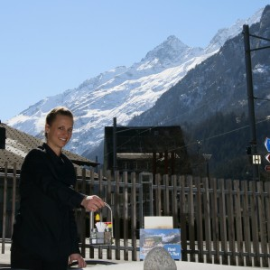 Debi Schranz is a graduate of the Resort and Hotel Management Diploma. She is now working as a manager-on-duty in Switzerland in the Haslital Region of Kanton Bern, which is located at the intersection of the Grimsel and Susten mountain passes.