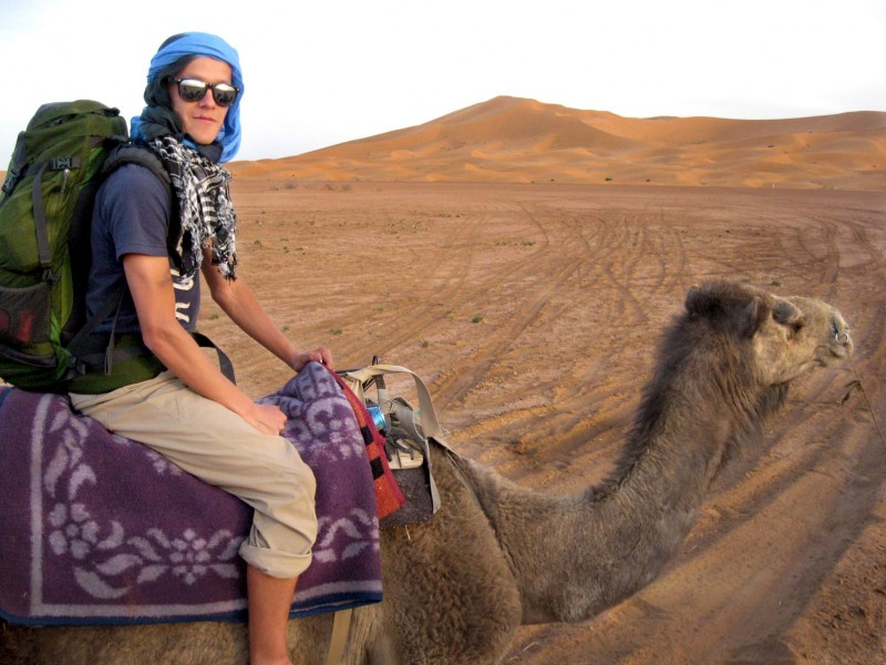 TRU alumni Seth Gehring during one of his Study Abroad terms in Morocco. His Study Abroad take-away: Gaining confidence, independence, the curiosity to explore new things.