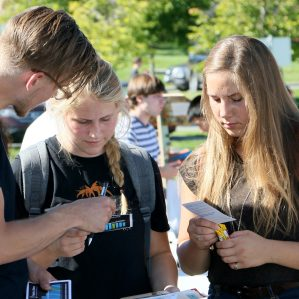 Clubs Day was a success, attracting at least half the available clubs to answer the questions of hundreds of students.