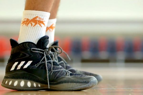 WolfPack player shoes and socks