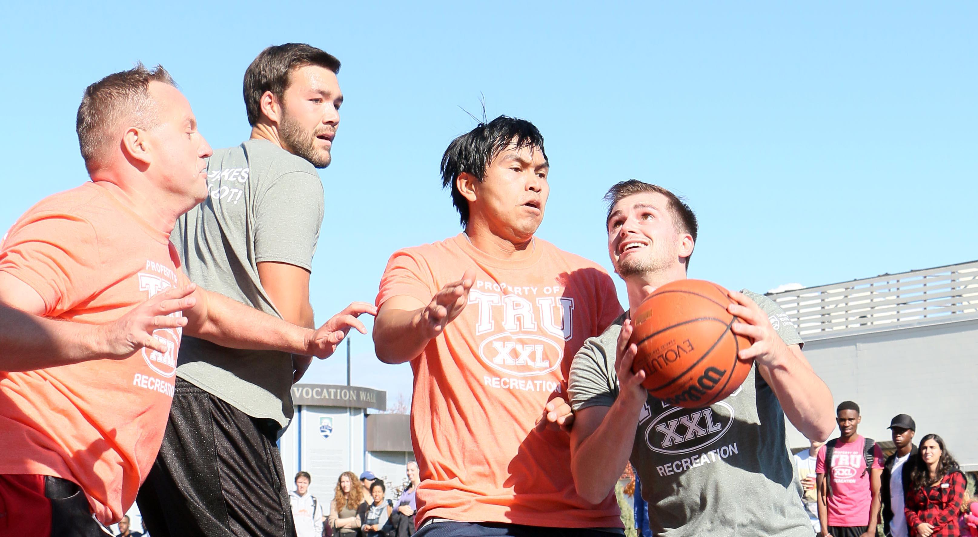 3 on 3 outdoor basketball tournament