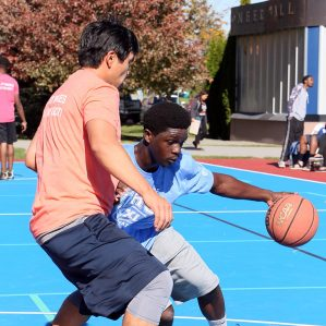 3 on 3 outdoor basketball tournament