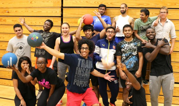 TRU MBA students gather for dodgeball tryouts in preparation for the BC MBA Games.