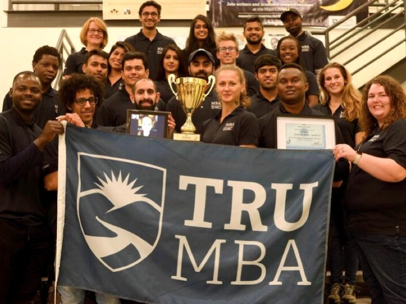The victorious TRU MBA team