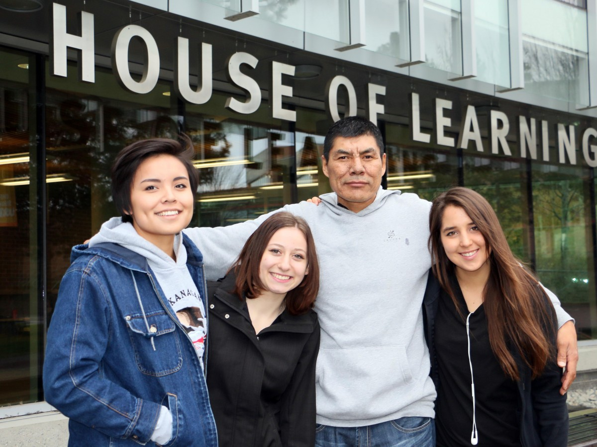 The panel of current students for the 2016 Aboriginal Transitions Day.