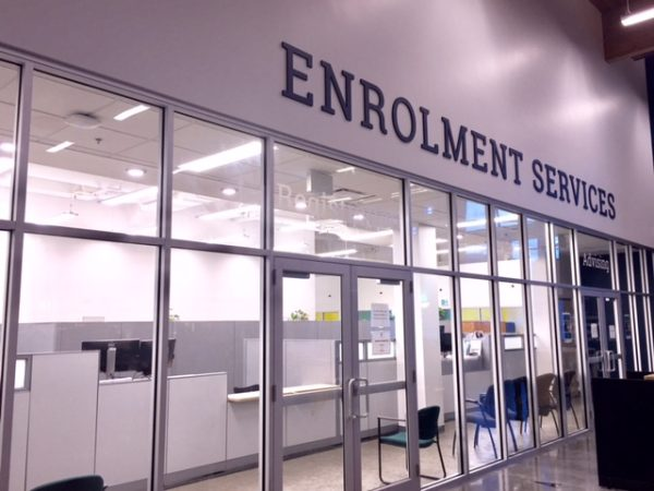 New and improved Enrolment Services space