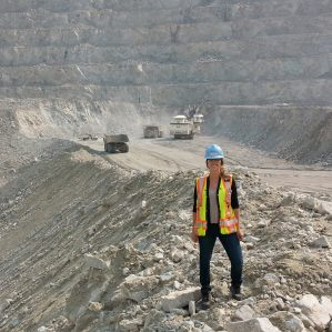 Sarah Cooke at the Highland Valley Copper site