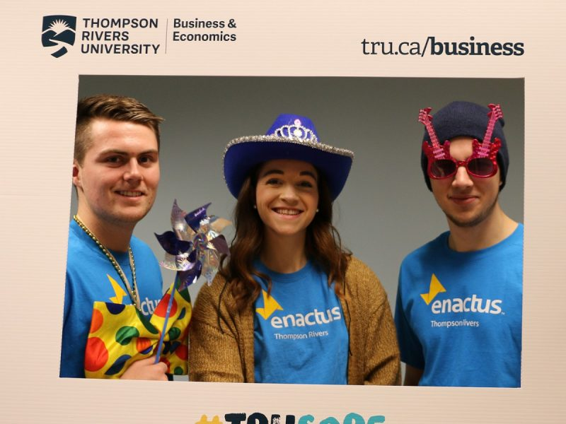 Joel, Katie and Nick from Enactus volunteering at the grand opening of the student centre