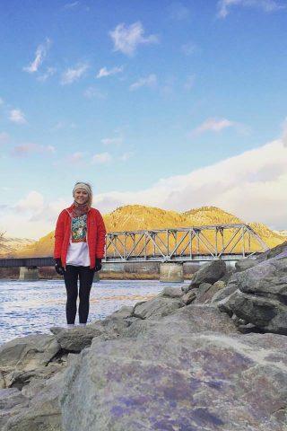 Katariina Määttä at Riverside Park in Kamloops, BC