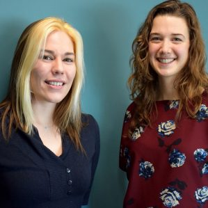 Brianna Iwabuchi and Stephanie Winton, winners of the 2016 Environmental Science and Natural Resource Science Fellowships.