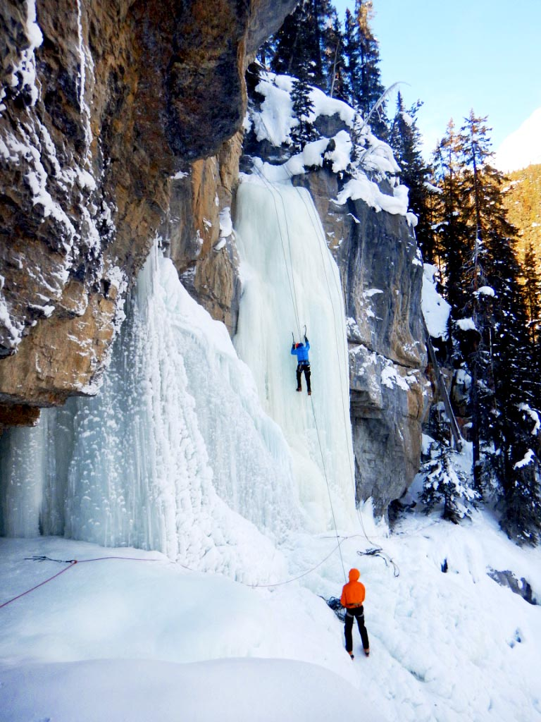 ice waterfall ice climing