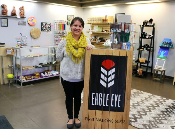 TRU Alumna, Julie John, in her store—Eagle Eye—First Nations Gifts