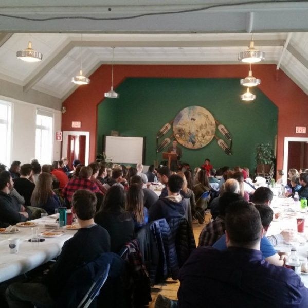 TRU Law students hear from panelists at the Kamloops Indian Residential School