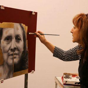 Carol Schlosar painting
