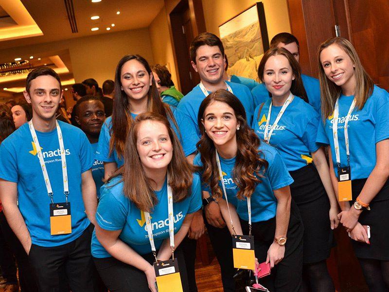 TRU students at the Enactus Canada Regional Exposition in Calgary