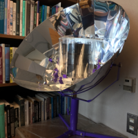 Solar oven donated by Dr. Michael Mehta