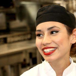 Culinary Arts student Kayla Lulua