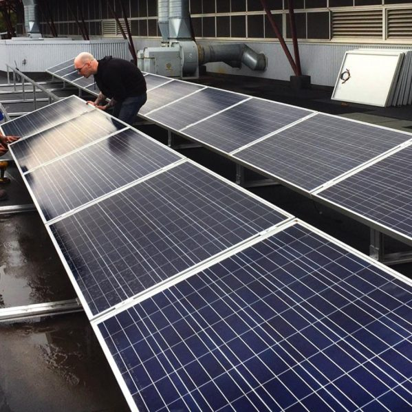 solar panels rooftop Trades and Technology