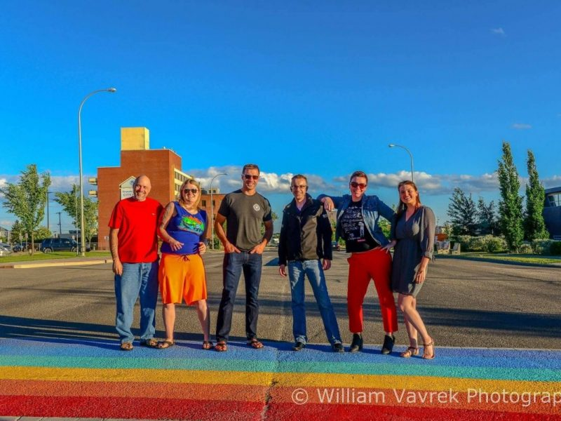 Grande Prairie Pride sidewalk