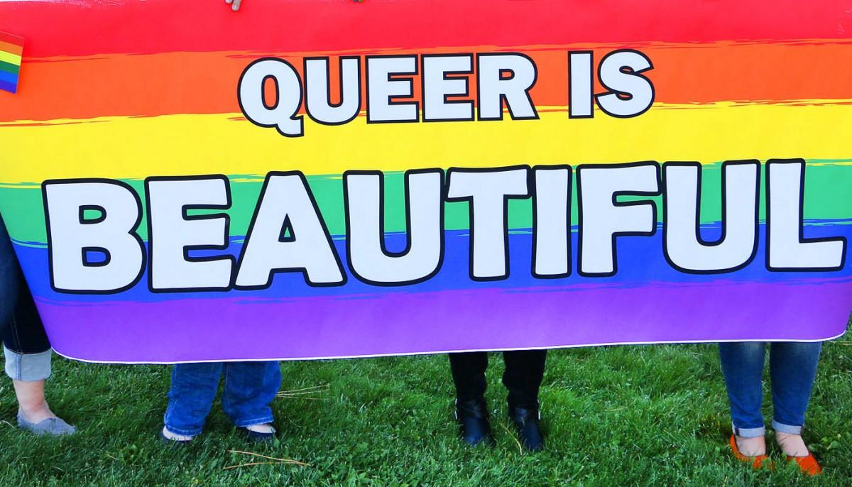 Pride Parade sign