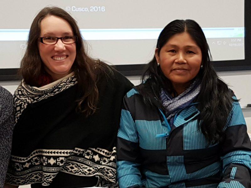 Mariluz Caniquiri and Stephanie Boyd