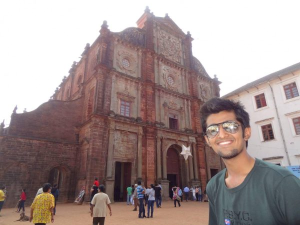 Abhijeet at St.Francis Church, Goa, India.
