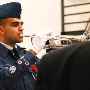 TRU Remembrance Day ceremony held Nov. 9, 2017 in Student Street.