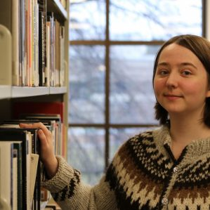 Bronwen Evans, winner of TRU's first creative non-fiction contest.
