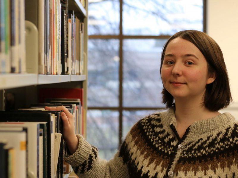 Bronwen Evans, winner of TRU's first creative non-fiction contest.