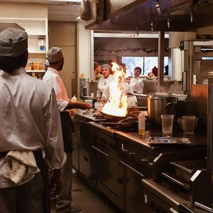 Culinary students preparing lunch at Scratch Café