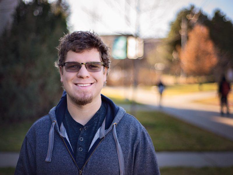 Co-op student Aaron Wiebe