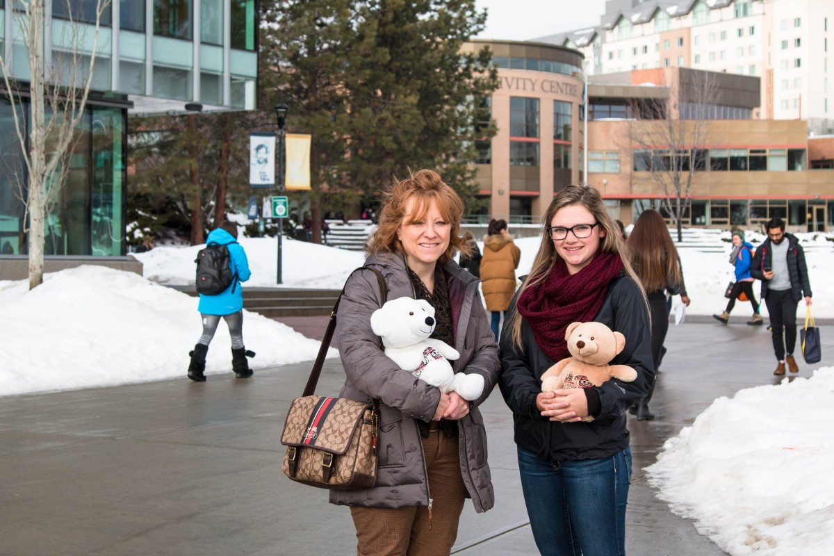 Adopted Bears with School of Nursing Representatives
