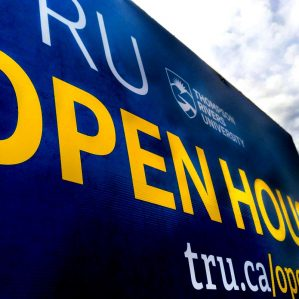 2018 Spring Open House sign