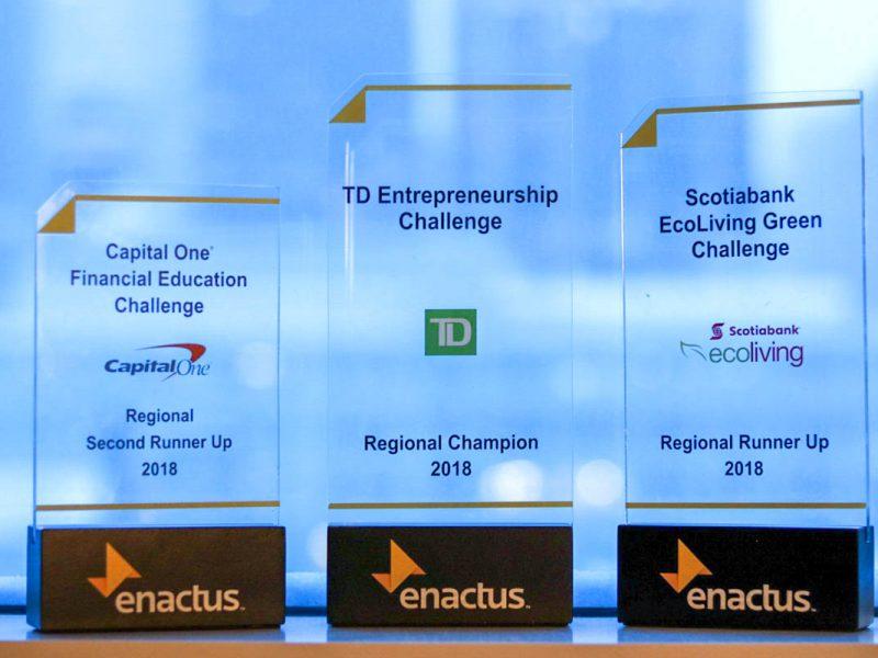 Enactus trophies regionals 2018