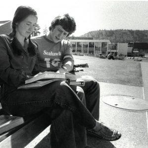 Students Lynn Johnson and Dean Nicholson 1979