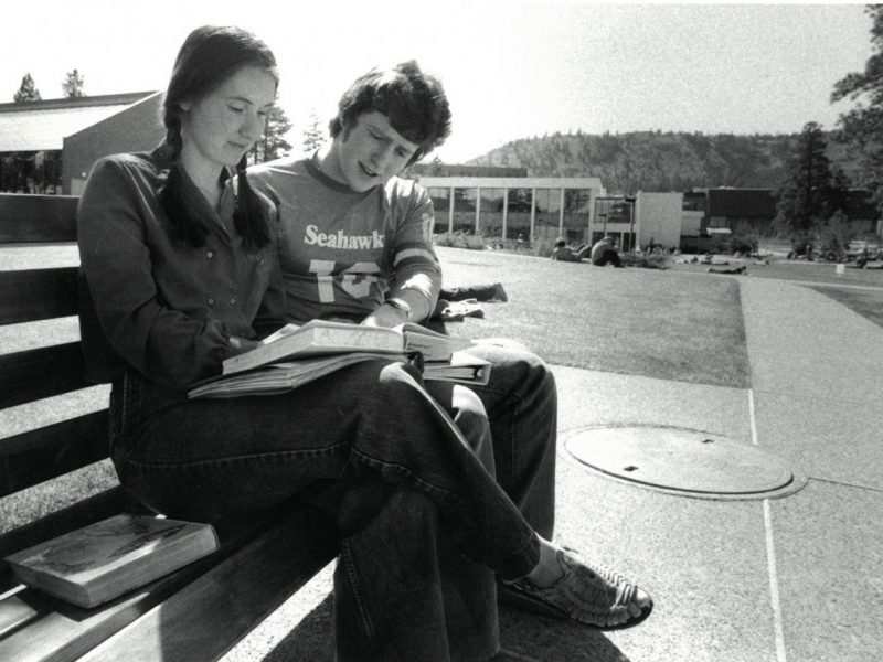 Students Lynn Johnson and Dean Nicholson 1979