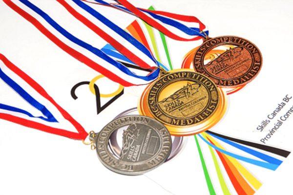 Skills Canada BC medals