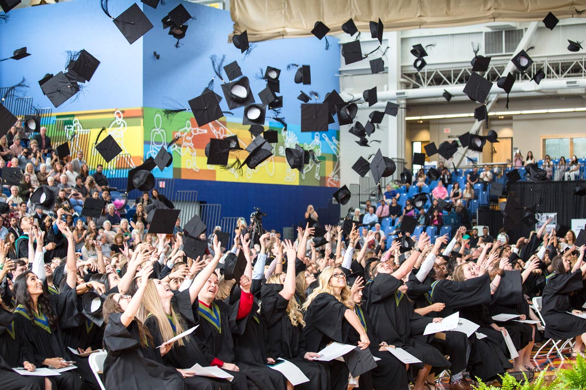 Convocation hat toss